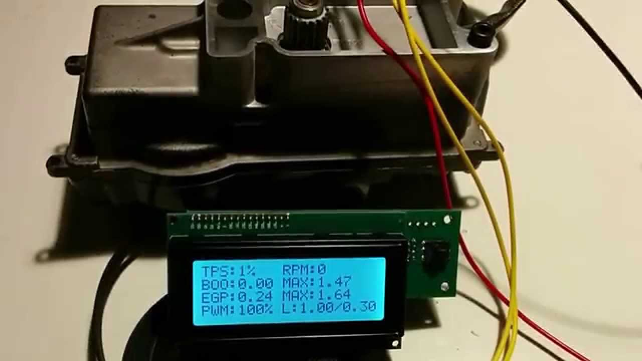 Testing Holset VNT over Can Bus Arduino www ofgear dk