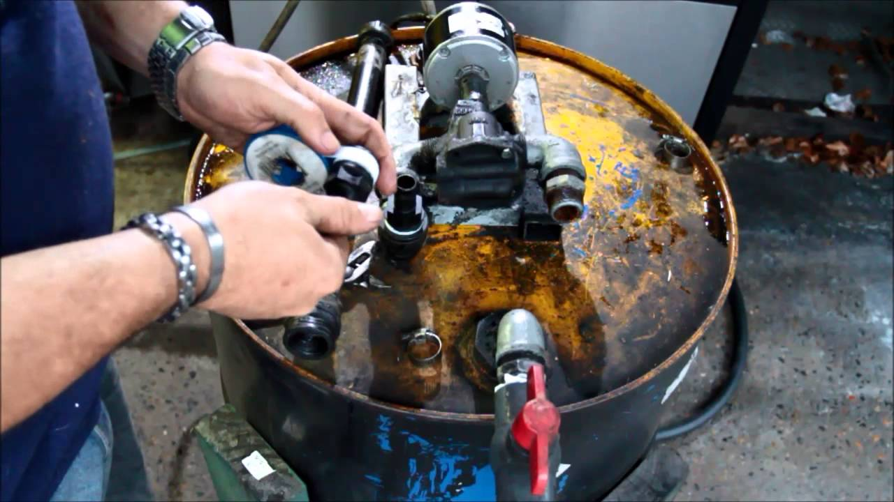 Waste Oil Collection Pump Tank Wvo Youtube