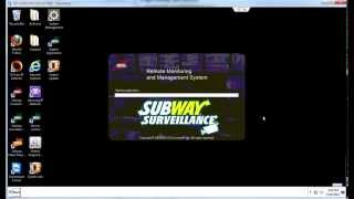 This video shows franchisees how to change the data from subshop 2000 subwaypos on your subway surveillance dvr.