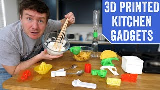Testing 3D Printed Kitchen Gadgets & Utensils