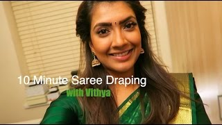 10 minute Saree draping with Vithya