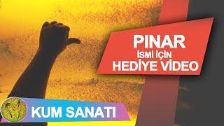 Pınar ismi kum sanatı yazı