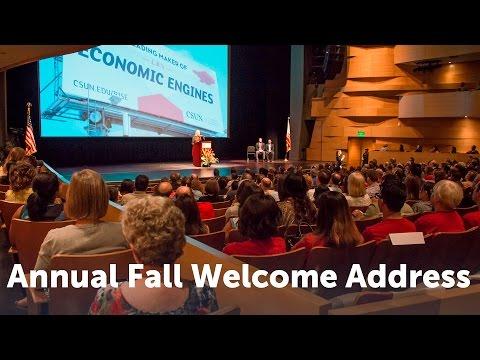 CSUN President's Annual Fall Welcome Address 2015