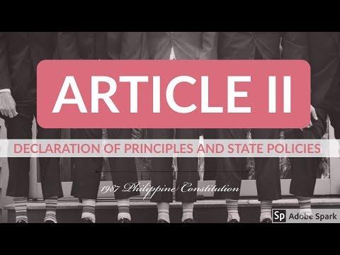 Article II - 1987 Philippine Constitution - Audio Codal