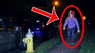 CREEPY CLOWN SIGHTING! OUTSIDE OF MY HOUSE?!
