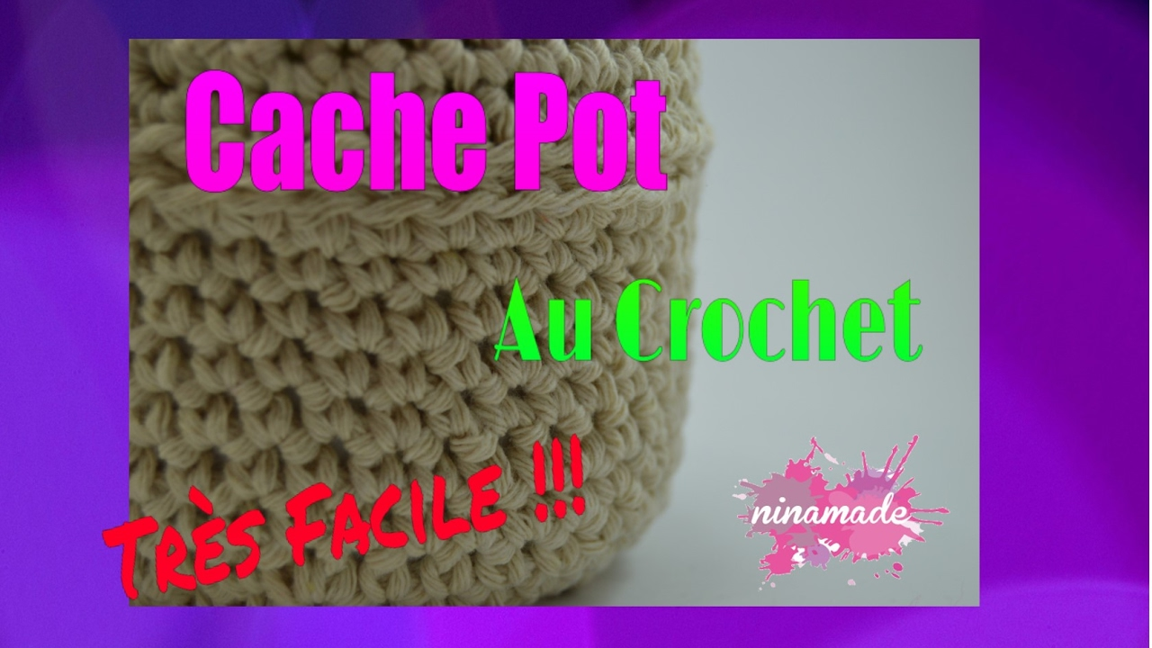 diy cache pot en crochet cover pot in crochet youtube. Black Bedroom Furniture Sets. Home Design Ideas