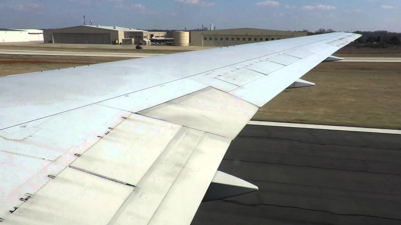 US Airways 767 retirement flight 767 CLT departure flaps 1 takeoff