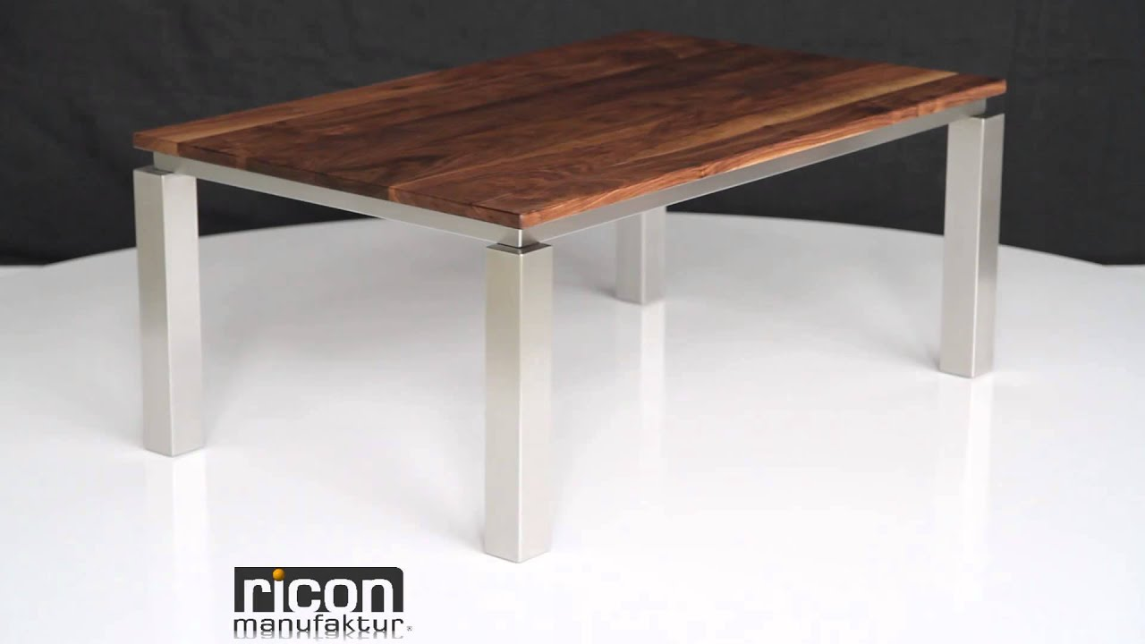 couchtisch new york mit massivholzplatte youtube. Black Bedroom Furniture Sets. Home Design Ideas