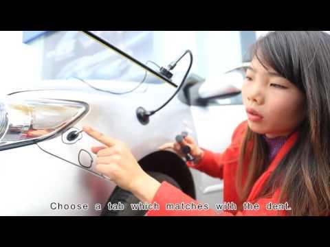 Car body dent repair tool kit T Puller video