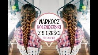 Warkocz holenderski z 5 części - hair by Jul