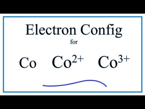 Electron Configuration For Co Co2 And Co3 Cobalt And Cobalt Ions Youtube