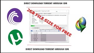 How To Download Torrent Files With IDM To Direct Link