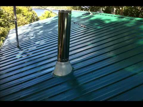 Chimney Amp Snow Ice Guards On A Steel Roof Slideshow Youtube