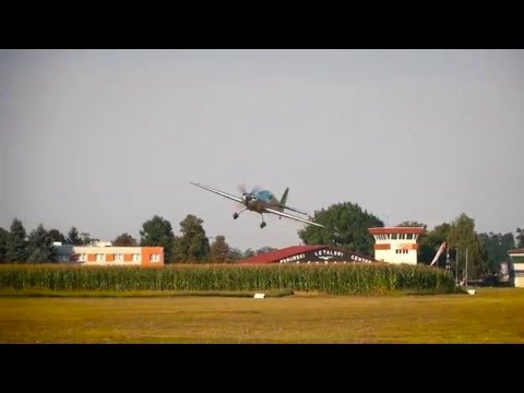 """Peter Podlunšek """"flying low"""" with his Extra 330LX"""