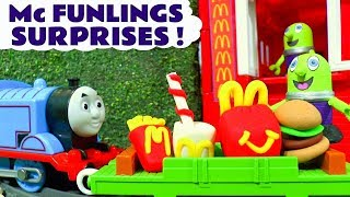 Funny Funlings Mcdonald'S Drive Thru Surprises With Thomas And Friends Toy Trains Tt4u