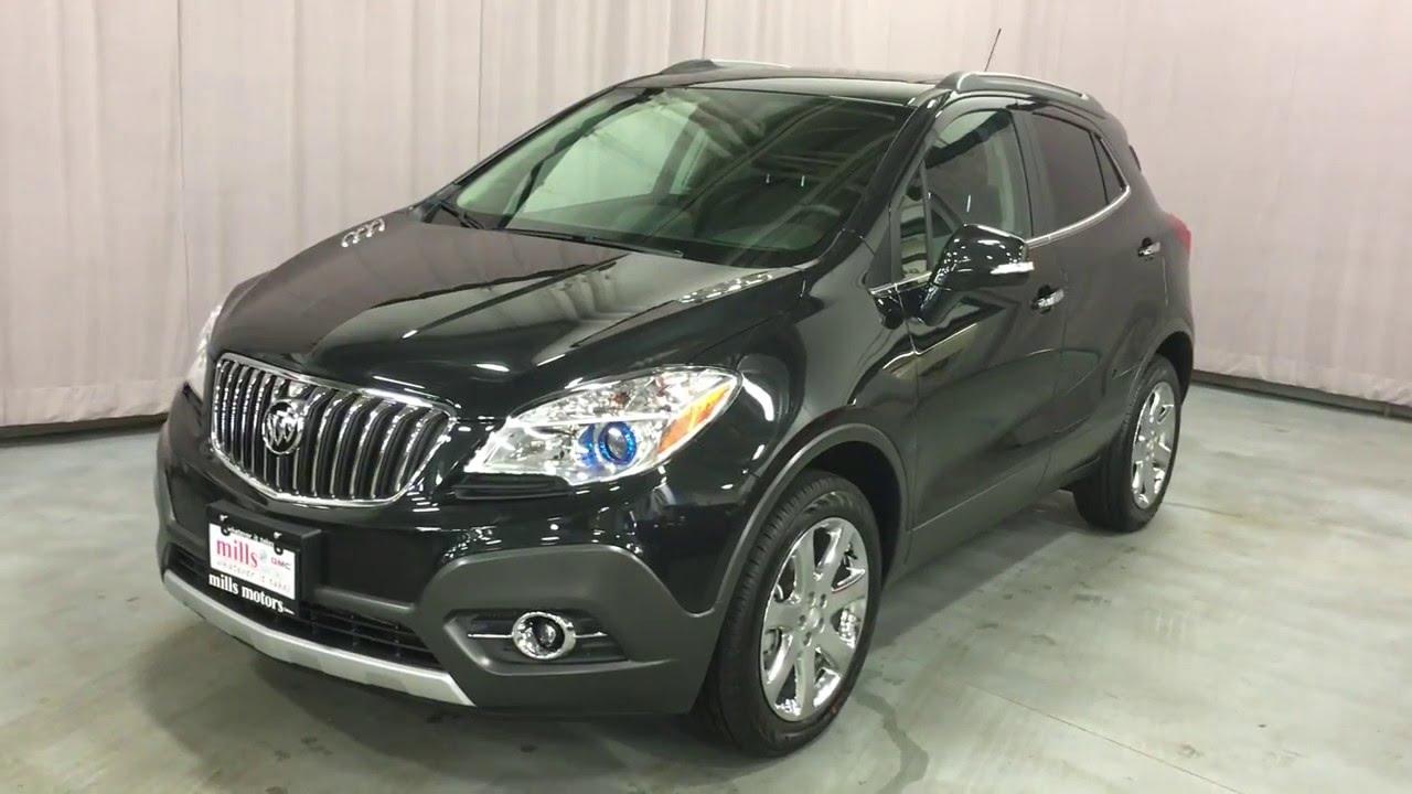 2016 Buick Encore Leather Awd Black Mills Motors Gmc Oshawa On Stock 160705