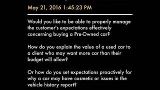 Sellchology Used Car Pricing Validation - C.H.O.M.E.S.