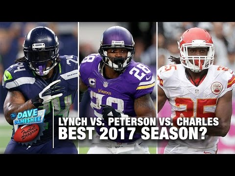 Best 2017 Season: Marshawn Lynch, Adrian Peterson, or Jamaal Charles | DDFP | NFL