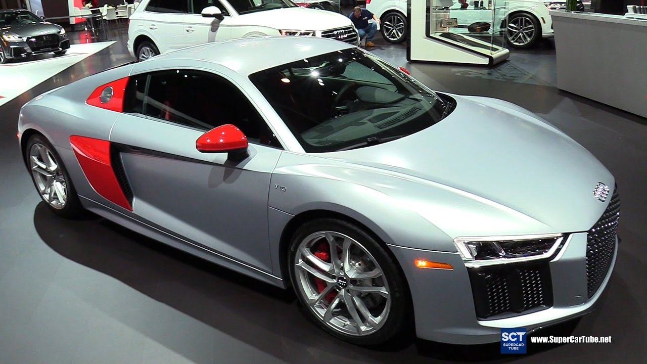 2018 audi i8.  audi 2018 audi r8 v10 sport edition  exterior interior walkaround debut  2017 new york auto show on audi i8 0