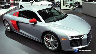 2018 Audi R8 V10 Audi Sport Edition - Exterior Interior Walkaround - Debut  2017 New York Auto Show