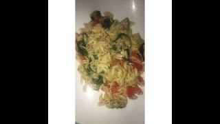 How to make Red Bell pepper & Spinach Orzo
