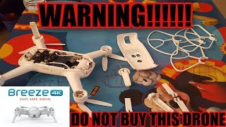 Video Yuneec Breeze 4k Don't buy this drone it is dangerous! download MP3, 3GP, MP4, WEBM, AVI, FLV Oktober 2018