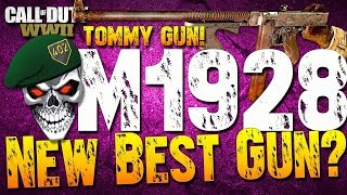 THE NEW BEST GUN IN COD WW2? M1928 BEST CLASS SETUP COD WW2 THOMPSON BEST CLASS SETUP WW2 M1928!