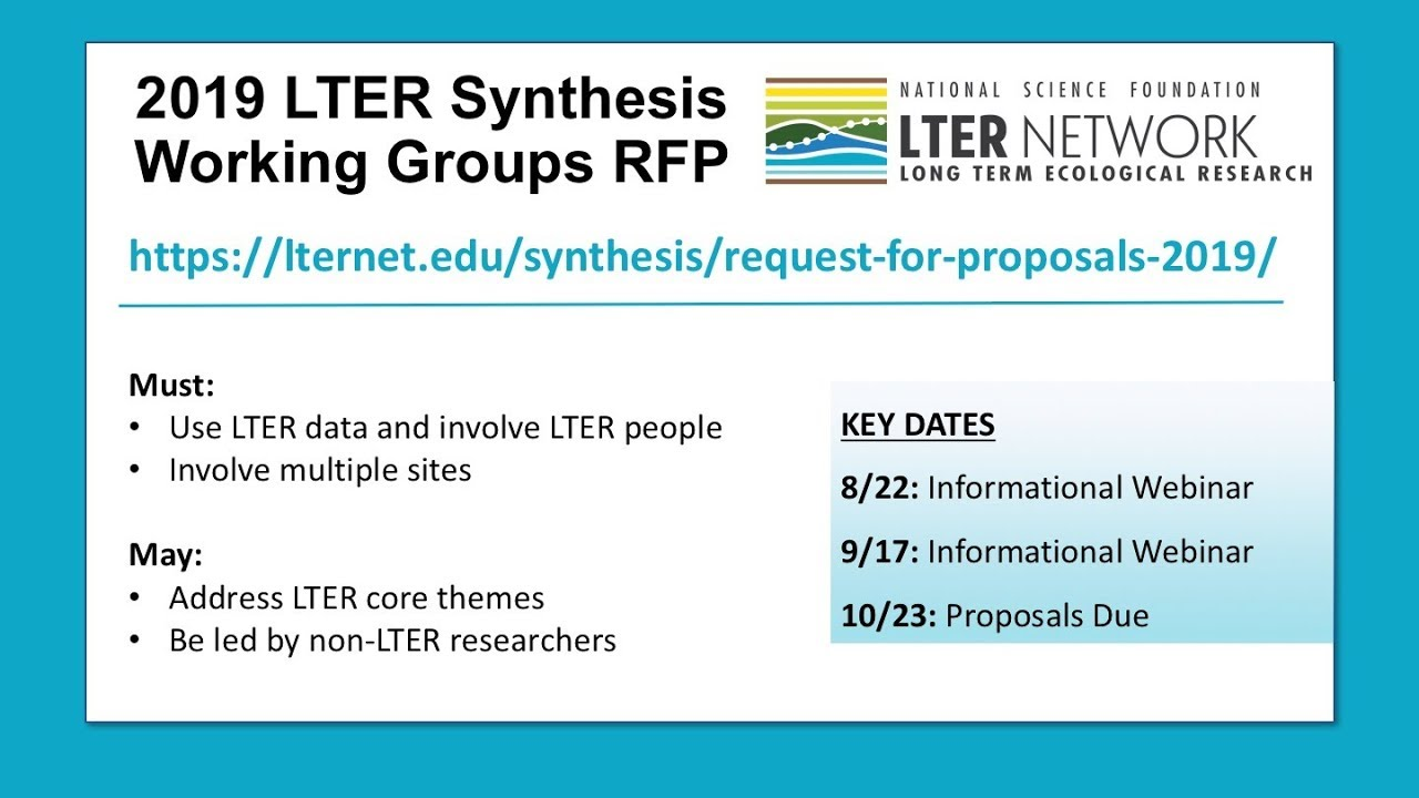 LTER Request for Proposals 2019