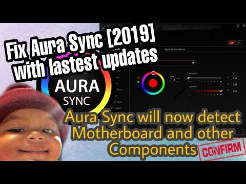 How to Fix ASUS AURA SYNC Not Detecting Motherboard | Motherboard Option  missing : V3 [JUN 2019]