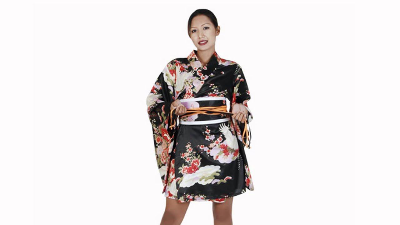 Wie binde ich diesen Kimono - Anleitung. - YouTube