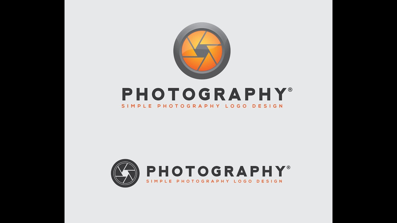 How to make photography logo in illustrator Logo Design - YouTube