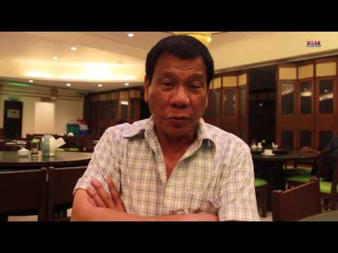 Mayor Rodrigo Duterte's message during the Mindanao People's Mining Conference on March 2 in Davao C