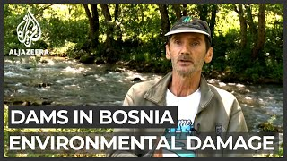 Concerns about environmental damage by dams in Bosnia