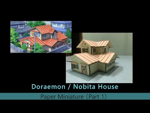 How To Make A Miniature Paper Doraemon House Part 1 Youtube