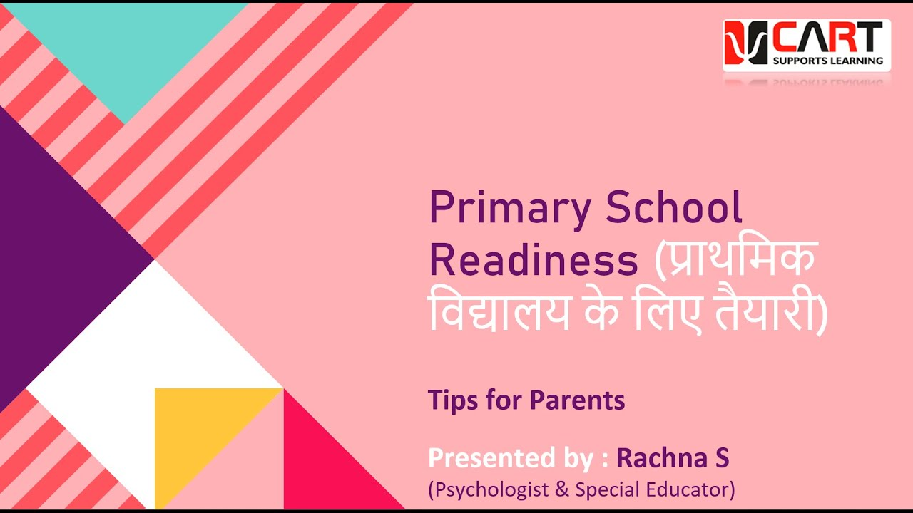 Primary School Readiness | An Orientation for Parents