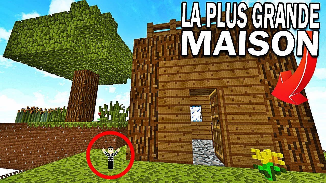 la maison la plus grande de minecraft youtube. Black Bedroom Furniture Sets. Home Design Ideas