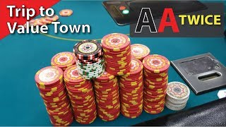 Getting Value w/ Pocket Aces…TWICE – Poker Vlog 27