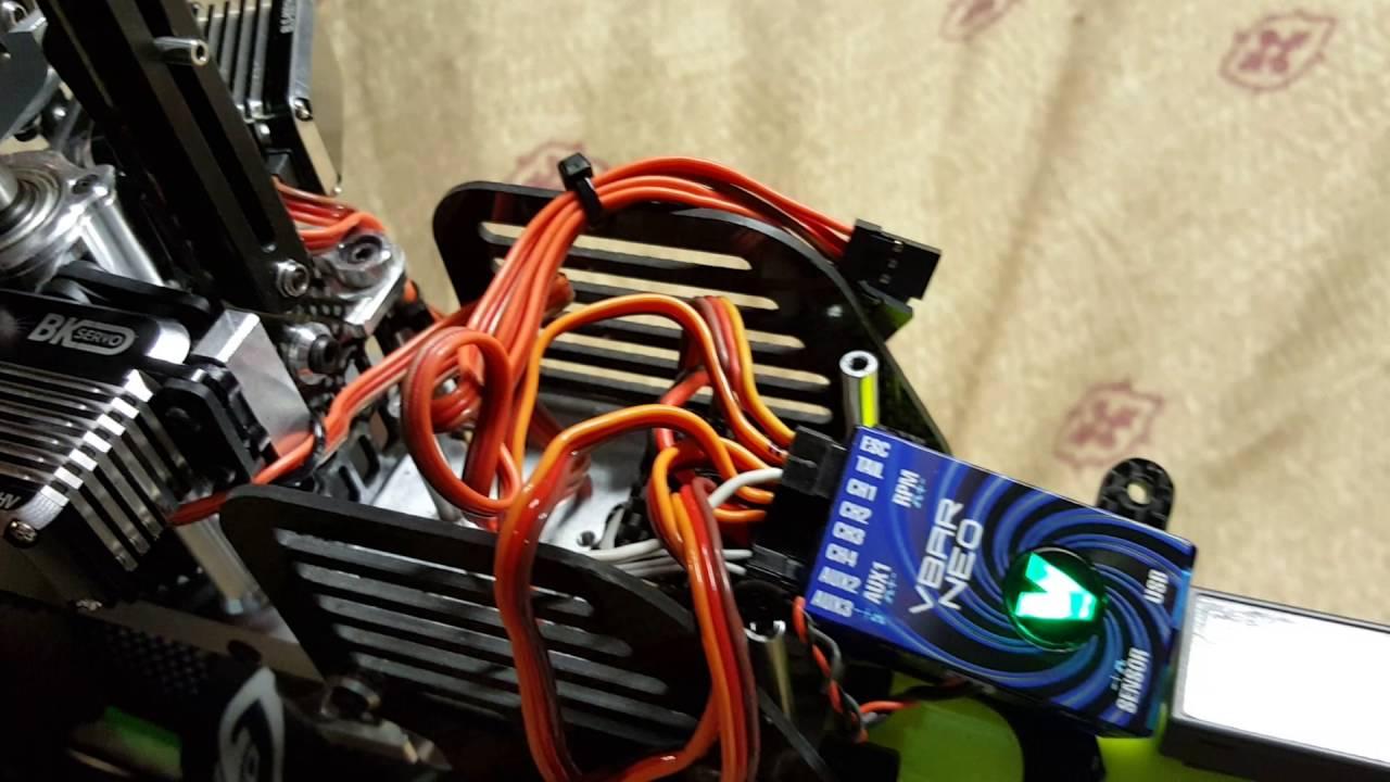 Vbar NEO non v-link freeze with BK 8002 servos