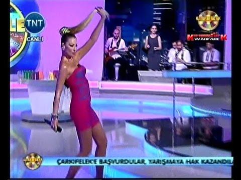 Turkish Delight Petek Dinçöz dances and performs with her mini dress