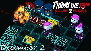 Friday the 13th Killer Puzzle Daily Death December 2 2020 Walkthrough