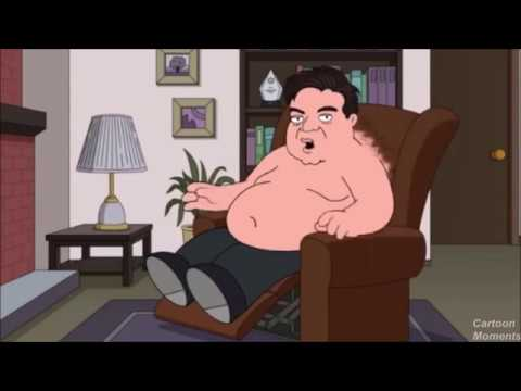 Family Guy Oliver Platt stuck to a chair