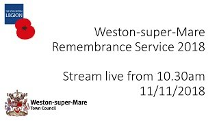 Weston-super-Mare Remembrance Service 2018