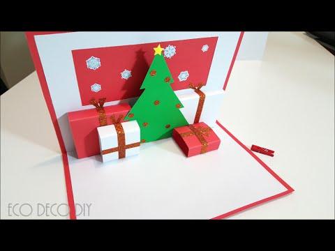 Tarjeta 3d para navidad un arbolito con sus regalitos - Tarjetas de navidad artesanales ...
