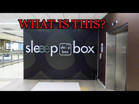 BANGKOK THAILAND AIRPORT LOUNGE SLEEP BOX FAMILY VLOG