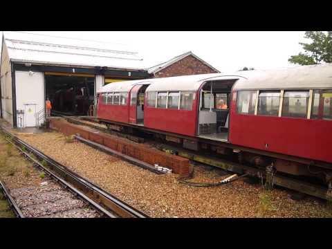 Shunting Failed 1938 Underground Train, Ryde St Johns Road Station, Isle Wight Railway May 2014