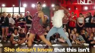 Romantic proposal in dance class