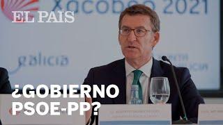 """NÚÑEZ FEIJÓO (PP) asegura que si SÁNCHEZ plantea una propuesta de INVESTIDURA al PP, se debería """"..."""