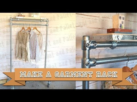 How to Make a DIY Garment Rail and Shoe Rack from Kee Klamp Scaffold and Boards with Basic Tools