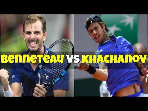 Julien Benneteau vs Karen Khachanov | QF Marseille 2018 Highlights
