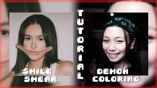 Alightmotion tutorial♡demon coloring+smile smear♡tagalog